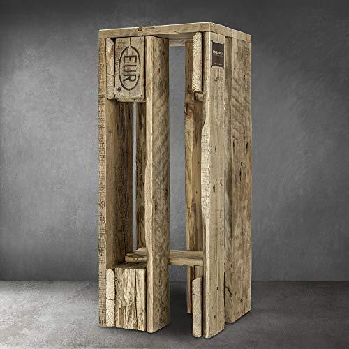 Schroth Home Pali Barhocker 28 x 28 x 70 cm – Tresen Hocker aus Holz– Hocker im Vintage Look