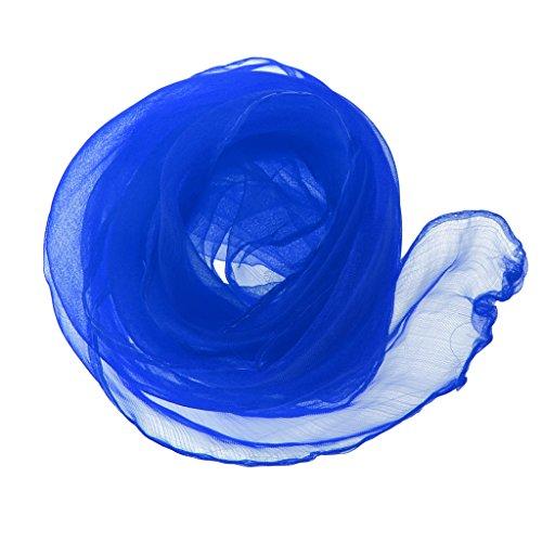 Sharplace Chiffontücher Tanztücher jonglieren Zauberei Rhythmiktüch Seidentücher - Königsblau