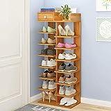 Pared pintura 8-Capa de Zapatero Estante de Almacenamiento Simple Zapato Gabinete Entrada casera del Zapato del sostenedor del Organizador Ahorra Espacio Taburete Cambiar Zapatos (Color : B)