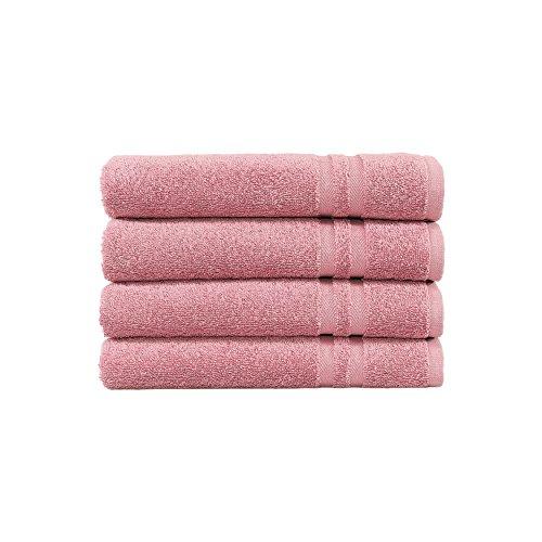 Linum Home Textiles Denzi Premium Authentique Doux 100% Coton Turc de Luxe Hôtel Collection Serviette de Toilette, Lot de 4