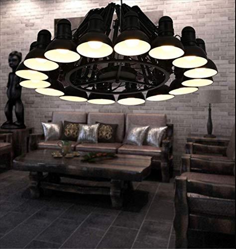 E27 LED hanglamp ijzer smeedijzeren hanglamp lantaarn 16 koppen telescoop café winkel creatieve lampenkap retro Amerika