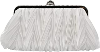Silk Cocktail Evening Handbags/Clutches in Gorgeous Silk More Colors Availabl,White,27 * 12 * 4CM