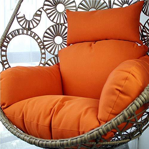 Wicker Rattan Hängende Ei Stuhlkissen, Outdoor Patio Balcony Lounge Mehrere Farben (Color : G, Size : 120x85x15cm(47x33x6inch))
