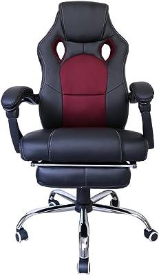 huigou HG Silla Giratoria De Oficina Gaming Chair Apoyabrazos Acolchados Premium Comfort Silla Racing Capacidad De
