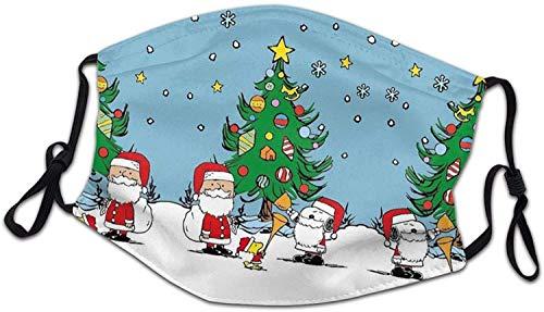 Pasamontaas de Navidad para nios con proteccin antipolvo, ajustable, accesorios para actividades al aire libre