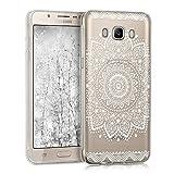 kwmobile Hülle kompatibel mit Samsung Galaxy J5 (2016) DUOS - Handyhülle - Handy Hülle Blume Weiß Transparent