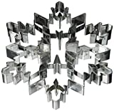 R&M International Snowflake 7.5' Giant Cookie Cutter with Interior Cut-Outs