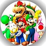 Premium Esspapier Tortenaufleger Tortenbild Geburtstag Super Mario T17