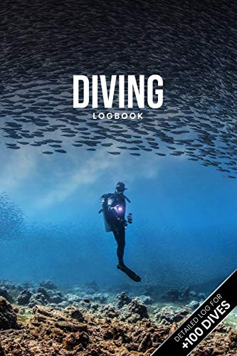 """Scuba Diving Log Book Dive Diver Jourgnal Notebook Diary - School of Sardines: Marine Biology Biologist Snorkeling Notepad Record with 110 Pages in 6"""" x 9"""" Inch"""
