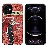 My Hero Academia Coque de protection en TPU pour iPhone 12/iPhone 12 Pro 6,1'/iPhone 12 Pro Max...