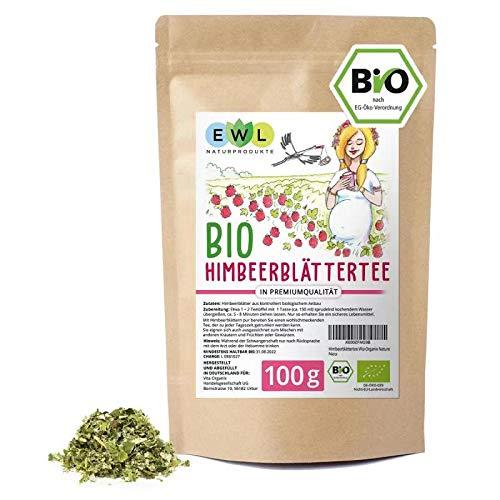 Himbeerblättertee Schwangerschaft Schwangerschaftstee100g Himbeerblätter Tee in Bio Qualität aus kontrolliertem Anbau I Kontrolliert und abgefüllt bei uns in Deutschland