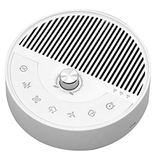 ERGGQAQ Portable White Noise Machine, Bluetooth Playback Music Sound Machine with Built-In TF, 26 Sleep Aid Effects Metal Volume Rotation Button High Sound Quality Large Speaker, for Travel, Office,