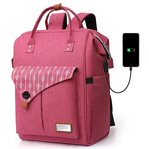Mochila Portatil para Mujer con Puerto de Carga Externa USB para Macbook y Netbook Negocio Escolar -35L