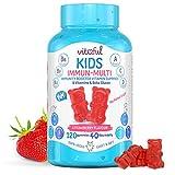 VITAFUL Kids - Caramelle multivitaminiche per bambini - Senza zuccheri aggiunti - 100% vegano - 8 vitamine, beta glucano, prebiotico e fibre - 120 gommose