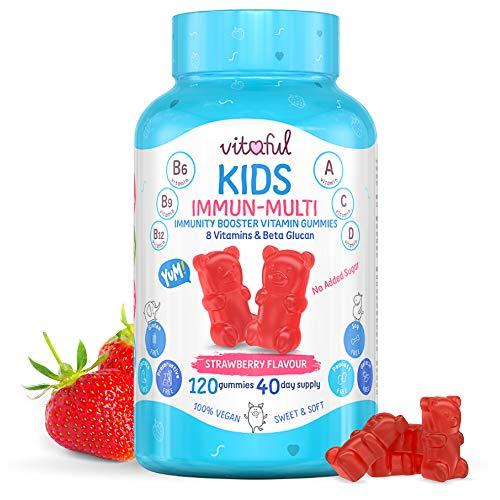 VITAFUL Kids - Caramelle multivitaminiche per bambini - Clinicamente provato per migliorare il sistema immunitario - 8 vitamine