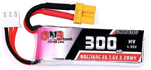 JINHUGU 7,6V 300mAh 80C   160C 2S HV 4.35V XT30 Lipo Batterie for BETWhoop Quadcopter Accessoires de Jouets