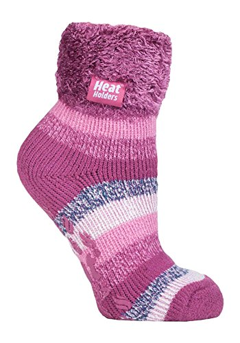 Heat Holders - Lounge Thermal Non Slip Bed Socks With Grip for Women 8 Colours (HHL07)