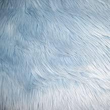 Light Blue Shag Faux Fur Fabric 60