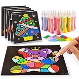 Set di Pittura Con Sabbia Colorata 12 Bottiglie Pittura Colorata Sabbia per Disegni di Chidlren a fai da te Scarabocchio Giocattoli Educativi Precoci