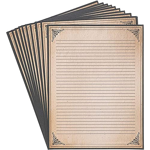 Vintage Lined Stationery Paper for Writing Letters (8.5 x 11 In, 96 Sheets)