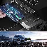 JUSTGJS Accessoires de Chargeur de Voiture sans Fil Qi 15W Max, avec QC3.0 USB pour Audi Q5 SQ5 2019...