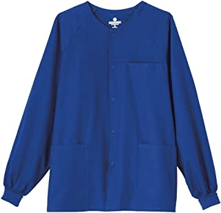 2073c26c7d4 White Swan Fundamentals 14770 Unisex 30-inch Snap Front Scrub Jacket