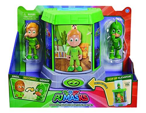 Giochi Preziosi Pj Masks Geco Camera di Trasformazione con 2 Personaggi
