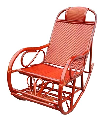 YYDD Comfortable Meditation Chair Rocking Chairs Rattan Bamboo Home Balcony Adult Lounge Chair Adult Recliner Old Man Outdoor Lunch Break Folding Chair