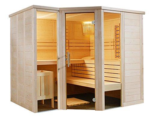 Well Solutions® Massiv Sauna Kabine Artkis All in mit Infrarot