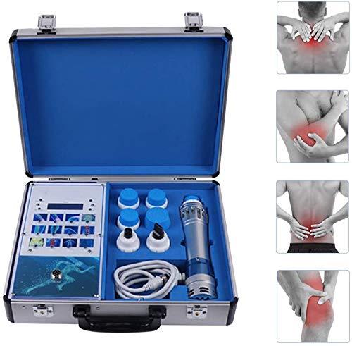 ZMIN Electroestimulador Máquina de Terapia de Ondas de Choque Extracorpórea Electromagnética Masajeador Muscular para aliviar el Dolor de Espalda Artritis y Lumbalgia