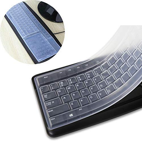 FRFJY Klare wasserdichte Anti-Staub-Silikon-Tastatur-Abdeckung Desktop-Computer-Tastatur Hautschutzfolie (1PCS)