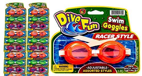 2GoodShop Goggles Swim Dive Set (Pack of 24) Summer Pool & Sea Underwater Goggle 1170-24