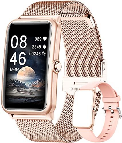 Smartwatch, Orologio Fitness Tracker Uomo Donna Smart Watch Sonno Cardiofrequenzimetro, Sportivo Activity Tracker Contapassi Cronometro, Smartband Notifiche Messaggi Controller Fotocamera Musicale
