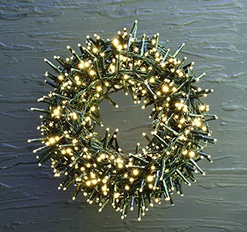 Serie Luci di Natale Micro LED Lucine uso Esterno ed Interno Catena Decorativa Luminosa Bianco Caldo (400 LED)