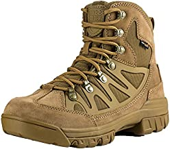 FREE SOLDIER Outdoor Men's Tactical Military Combat Ankle Boots Water Resistant Lightweight Mid Hiking Boots (Coyote Brown 9 M US)