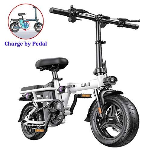 Las bicicletas plegables eléctricos señora adulta de 48 V de la batería...