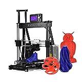 aibecy 3D Drucker im Set Alu 3D Printer Selbstaufbau Abdruckgröße: 210* 210* 235mm Halterung das ABS/Filament PLA/Holz/Nylon/PVA/PP (1.75mm) schwarz
