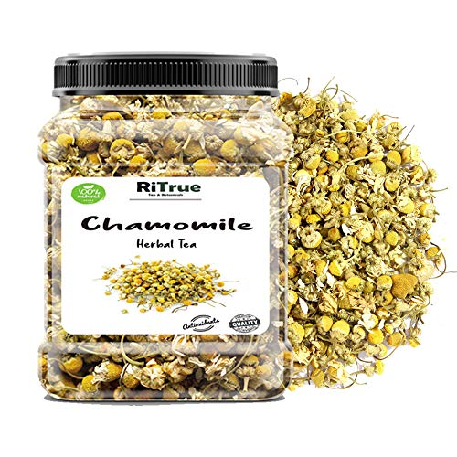 Organic Chamomile Loose Leaf Tea (50 Gm) - High Grade Dried Flowers - Sourced From 100% Organic Farms - By RiTrue Tea & Botanicals