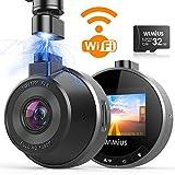DashCam WiFi Autokamera, WIMIUS 1080p Auto armaturenbrett Cam Mini, KFZ Dash Kamera, 170°...