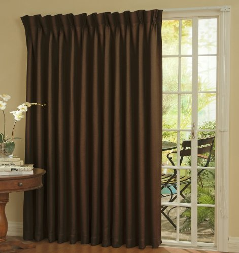 Eclipse 12109100X084ESP Thermal 100-Inch by 84-Inch Blackout Single Patio Door Curtain Panel, Espresso