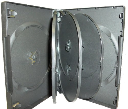 27MM SLIM MULTI-8 DVD CASE BLACK, BOOKLET CLIPS, SF003C-PP-8B27, 80 covid 19 (27mm 8 Disc Black Dvd coronavirus)