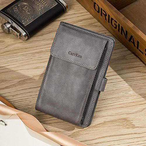 Ksde Mannen Multi-Functie Retro Portemonnee Mannen Meerdere Card Slots Handtas Rits & Hasp Clutch Bag kleine portemonnee