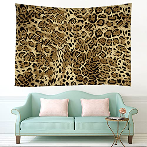 biejuyige Tapiz Colgante De Pared Patrón De Leopardo Tapices Impresos En 3D Tienda De Campaña Viaje Playa De Arena Sábana De Cama B4 240X260Cm