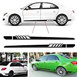 Boilipoint 1pair/2Pcs Racing Car Side Stickers Body Decals Long Stripes Sticker for Car Side Sticke Fir for All Cars SUV Free Size