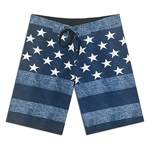 NIGHTMARE Pantalones Cortos al Aire Libre para Mujer Pantalones de Playa elásticos y de Secado rápido Estrellas Pantalones Cortos Casuales de Moda para niños 36
