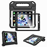 Kids Case for iPad 9.7-inch 2018 6th Generation / 2017 5th Generation & iPad 9.7-inch Air/Air 2 - Built-in Screen Protector Shockproof Light Weight Handle Convertible Stand Cover (Black)