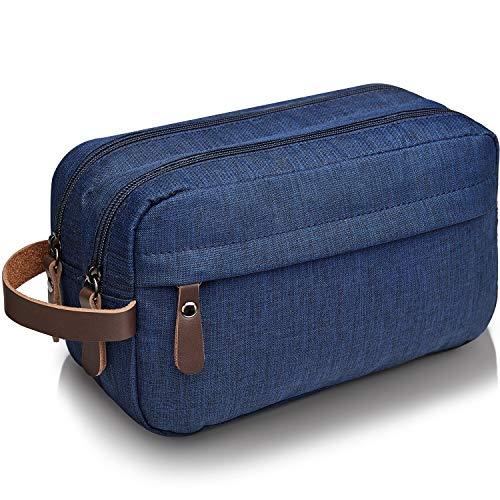 WANDF Kulturbeutel Waschtasche für Herren Damen Kulturtasche Kosmetiktasche für Männer Frauen Nylon Leichte (B - Blau)