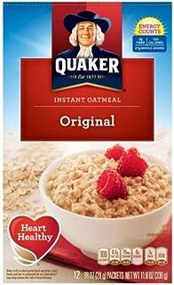 Quaker Oats Instant Oatmeal - Original - Packet - 11.80 Oz - 12 / Box (Pack of 4)