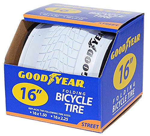 Goodyear Folding Bead Bicycle Tire 16 x 15/225 White