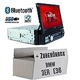 Autoradio Radio Caliber RMD574BT - Bluetooth | MP3 | USB | SD | 7' TFT - Einbauzubehör - Einbauset für BMW 3er E36 - JUST SOUND best choice for caraudio